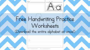 Handwriting Practice Printables: Free handwriting worksheets for kids!