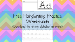 Handwriting Printable Worksheets: Free, fun and fabulous - download the entire alphabet at one time.