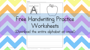 Printable Handwriting Worksheets: Download the entire alphabet at one time and help your student easily practice handwriting.