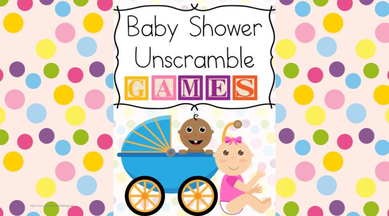 Baby Shower Unscramble Games