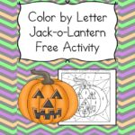 Halloween Phonics Worksheet:  Pumpkin Color by Letter