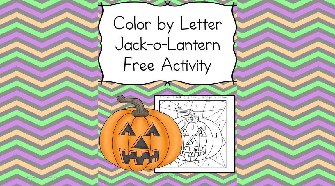 Color by Letter Jack-o-Lantern: Fun Educational Halloween Activty