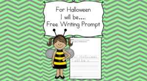 Free Halloween Writing Prompt for Kindergarten or First Grade.