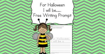 Free Worksheet Friday:  Halloween Writing