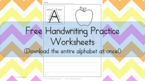 Handwriting Worksheets for Kids: Free, fun and fabulous - Download the entire alphabet at one time.