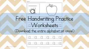 Kids Handwriting Worksheets: Download the entire alphabet at one time and help your student practice handwriting for free!
