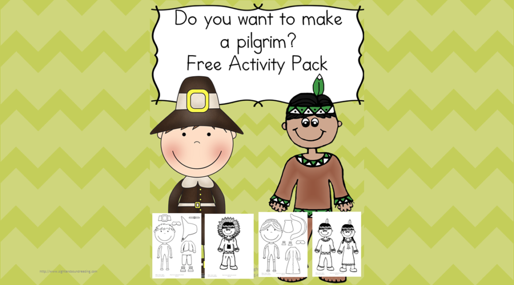 Do you want to make a pilgrim? Free Activity pack to help your student learn about the first Thanksgiving