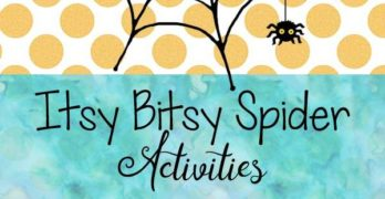 Itsy Bitsy Spider Activities: Fun and educational activities to go along with the nursery rhyme the Itsy Bitsy Spider