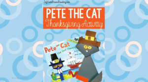 Pete the Cat Thanksgiving Activity: Cute craft inspired by the Pete the Cat books to help teach about the first Thanksgiving.