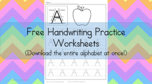 Printable Handwriting Pages: Free printable handwriting pages to help your students with handwriting. Download the entire alphabet at one time!