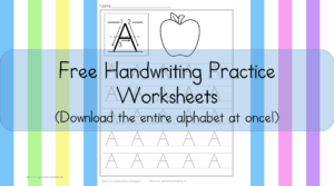 Printable Handwriting Worksheets for Kids: Download the entire alphabet at one time with these free printable handwriting worksheets for kids