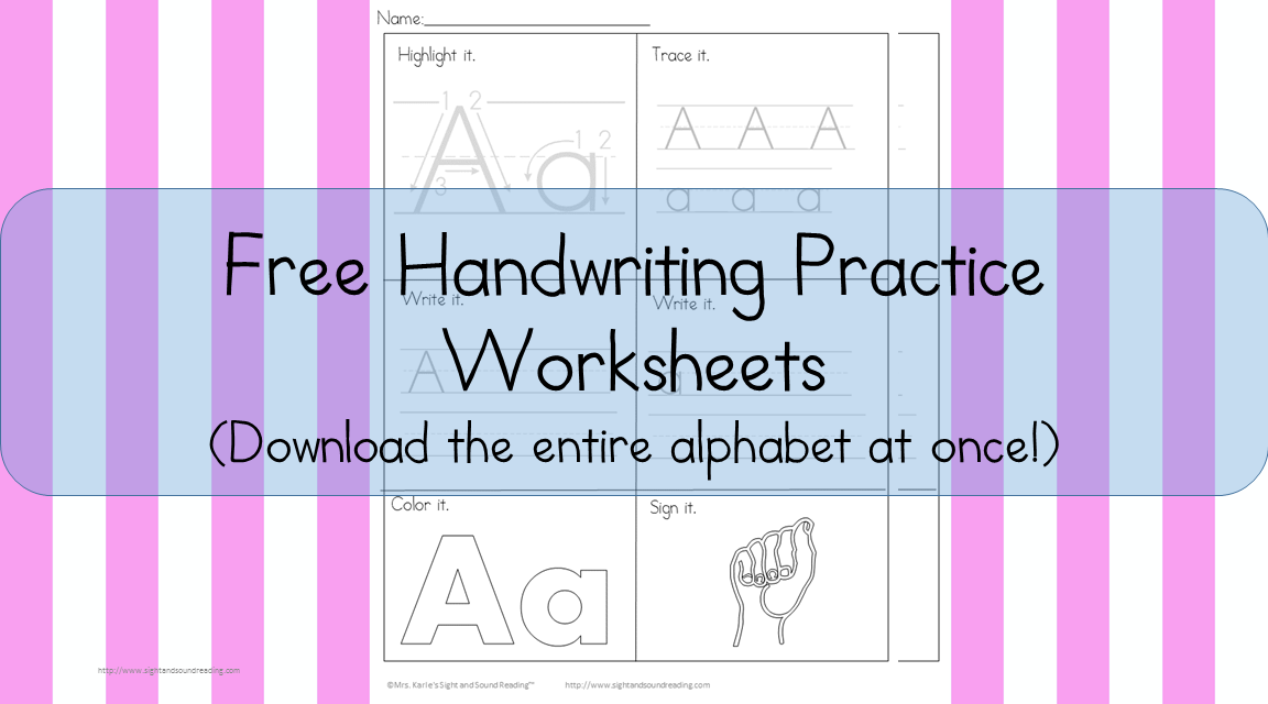 26 free printable handwriting worksheets for kids easy download. Black Bedroom Furniture Sets. Home Design Ideas