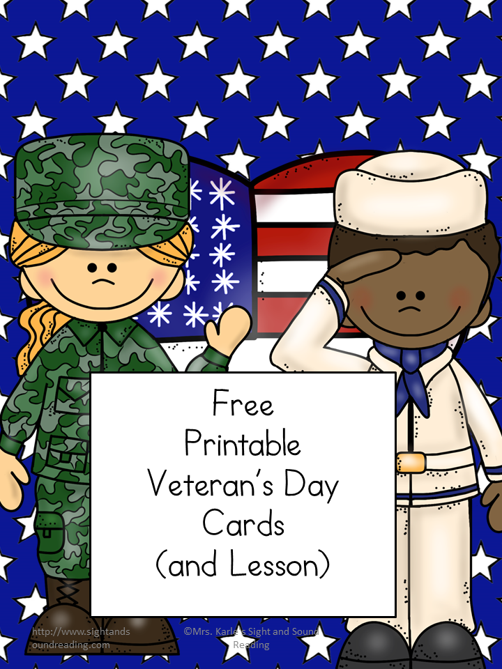 Free Printable Veteran's Day Cards - Write to service members and thank them for their service with these free printable veteran's day cards.