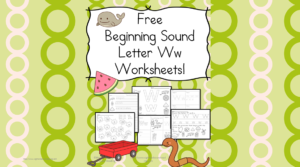 Beginning Letter Sound Worksheets - the Letter W!