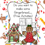 Gingerbread Man lesson plan and gingerbread man cutout template. Great for preschool, kindergarten or 1st grade.