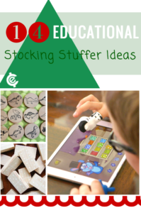 Educational Stocking Stuffers Ideas: From DIY and craft ideas to games and more... these are fun educational stocking stuffer ideas.