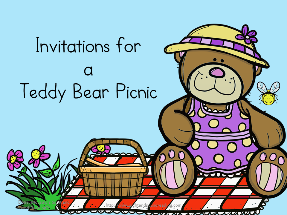 Teddy Bear Picnic Invitations Cute freeand printable – Teddy Bears Picnic Party Invitations