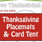 Free printable Thanksgiving Placemats for Kids...they will help the children set the table before dinner and then there are a few games to play as well!