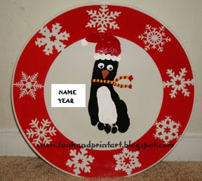 Christmas-Footprint-Penguin-Plate