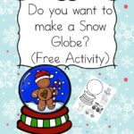 Do you want to build a snow globe? Fun activity to help practice coloring, ,cutting and pasting skills!