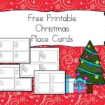 Free Printable Christmas Place Cards - Great activity to get the children involved in setting the table...(and they get to practice writing names!)