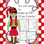Do you want to make an elf? Fun, free cut and paste activity great for Kindergarten and First Grade.