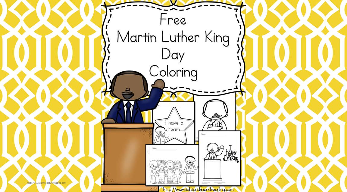Martin Luther King Day Coloring for PreschoolKindergarten