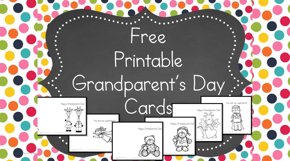 Astounding image intended for grandparents day cards printable