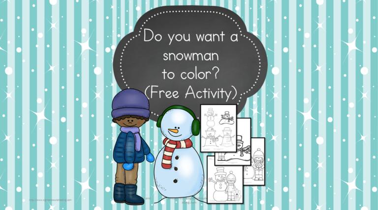 Snowman to Color