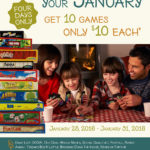 10 Board Games for $10! - Make your January a little bit more fun with these fun games -on sale for $10 each!