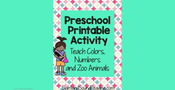 Color Preschool Activities - Help teach color, numbers and zoo animals with this free activity.