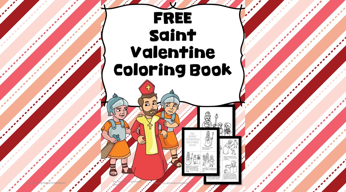 saint valentine coloring page for preschoolkindergarten