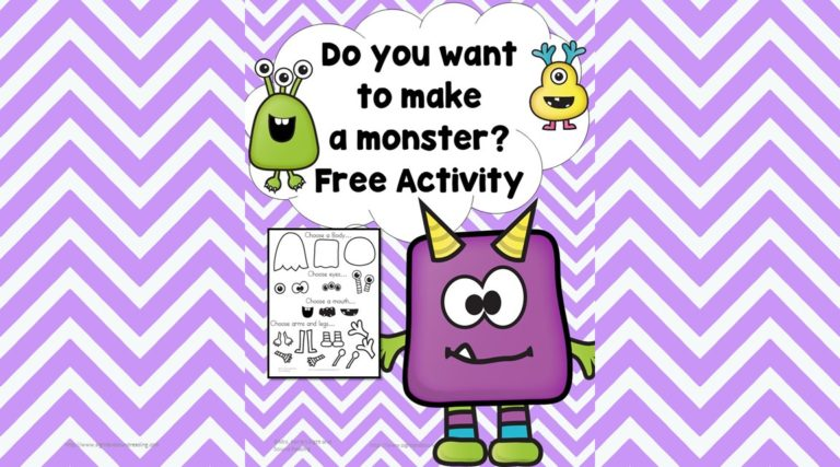 Early Learning Activity:  Make a Monster