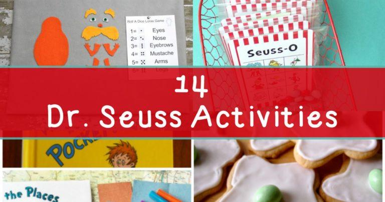 Dr Seuss Activities for Kindergarten