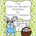 Free Easter and Springtime Worksheets for Preschool and Kindergarten