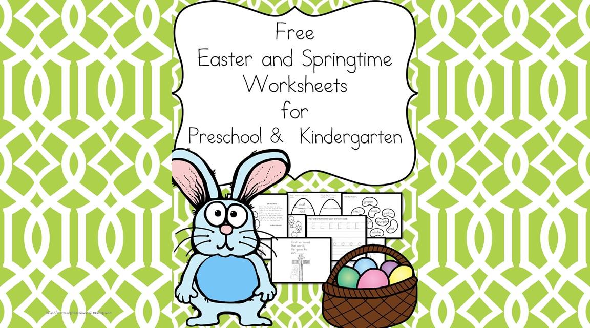 Free Easter and Springtime Worksheets for Kindergarten -Make ...