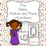 Help your child or student learn their name, address and phone number using these free Name Address Phone Number Worksheets -Great for home or school.