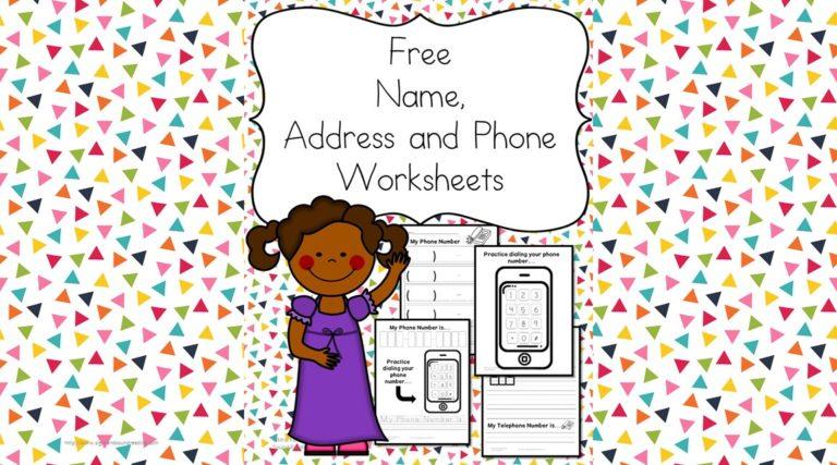 Name Address Phone Number Worksheets