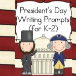 Presidents Day Writing Prompts for Kindergarten, first or second grade. Modified to work for several levels, students will enjoy learning and writing about the Presidents!