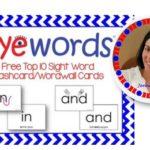 Eyewords Multisensory Sight Word Flashcards
