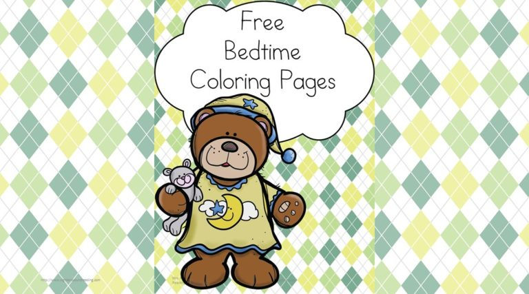 Bedtime Coloring Pages