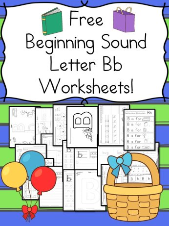 free beginning sounds letter b worksheets to help you teach the letter b and the sound