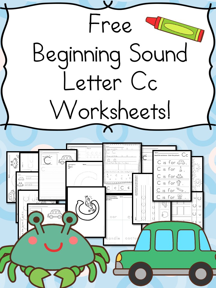 beginning sounds letter c worksheets  free and fun preschool or kindergarten activity worksheets free beginning sounds letter c  worksheets