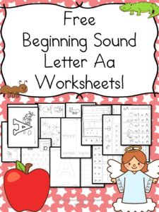 Beginning Sounds Letter A worksheets for Kindergarten