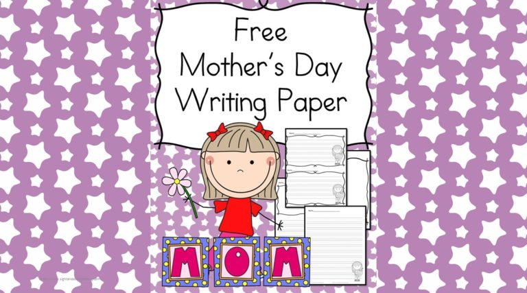 Mothers Day Writing Paper for Kindergarten