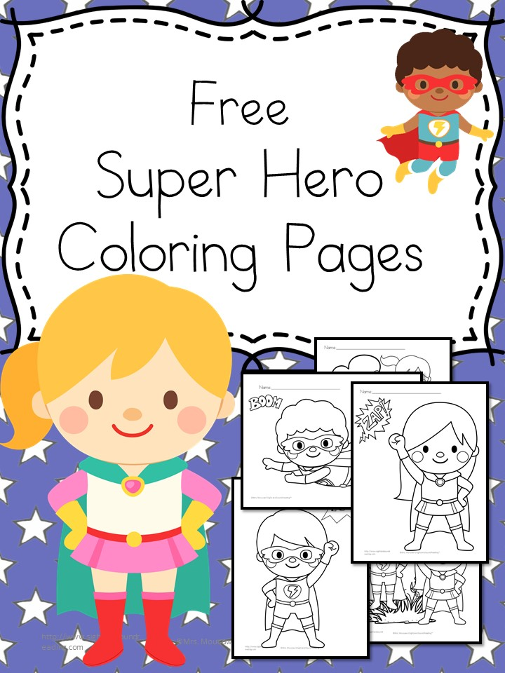 Superheroes Coloring Pages -