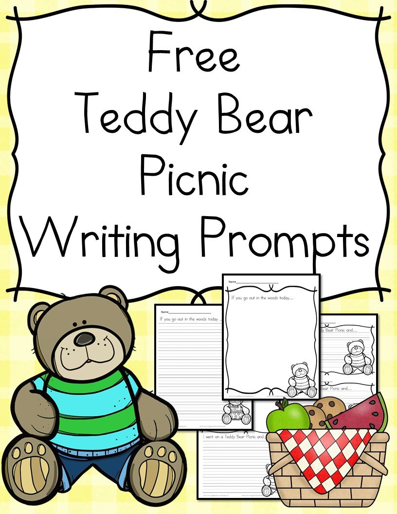 Teddy Bear Picnic Writing Prompts for Kindergarten