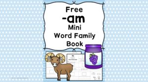 Teach the am word family using these at cvc word family worksheets. Students make a mini-book with different words that end in 'am'. Cut/Paste/Tracing Fun