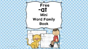 at CVC word family worksheets - Teach the 'at' word family ending using this free activity.