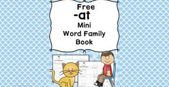 AT CVC Word Family Worksheets